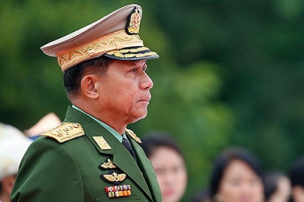 UK imposes sanctions on Myanmar's top two generals