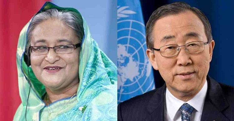 Ban Ki-moon calls up Hasina, says next CVF conf in Dhaka