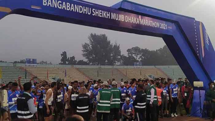 Bangabandhu Sheikh Mujib Marathon 2021 begins
