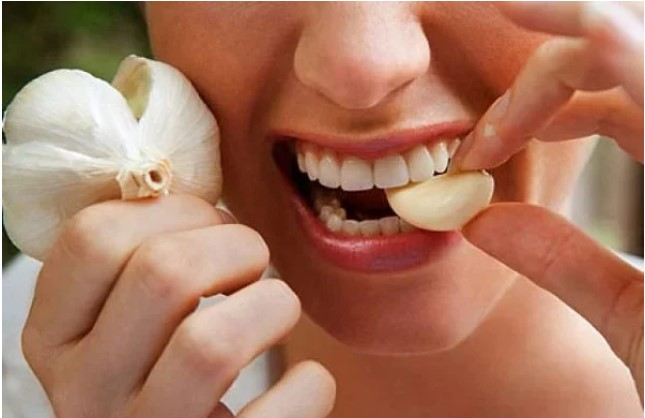 Garlic to get rid of toothache