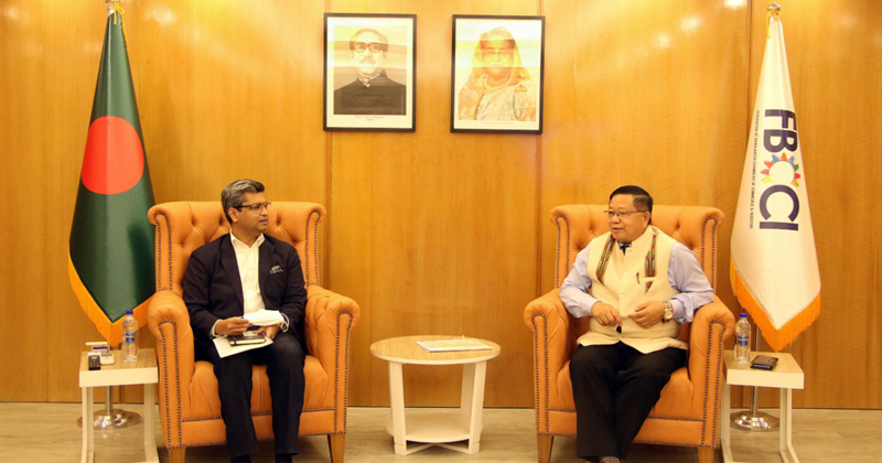 Dr. R. Lalthangliana met Mr Shiekh Fazle Fahim