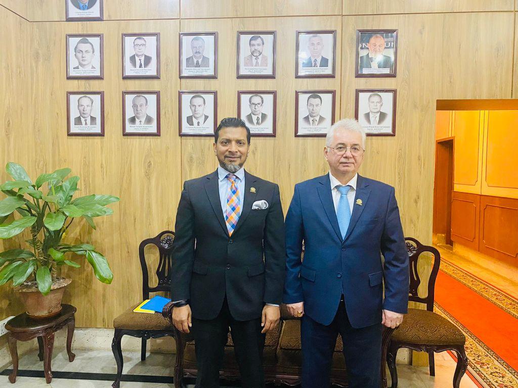 CIS-BCCI President meets new Russian Ambassador in Dhaka